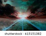 Old Abandoned Road Flooded Wit...