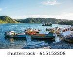 puerto montt  chile   february... | Shutterstock . vector #615153308