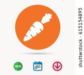 carrot icon. fresh natural... | Shutterstock .eps vector #615154895