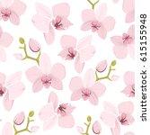 pink purple tender orchid...   Shutterstock .eps vector #615155948