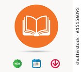 book icon. study literature... | Shutterstock .eps vector #615156092
