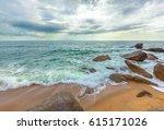 dawn on koh samui in thailand.   Shutterstock . vector #615171026