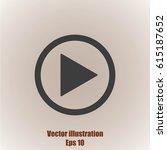 play button web icon   Shutterstock .eps vector #615187652