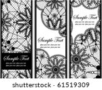 Set Of Black Lace Banners