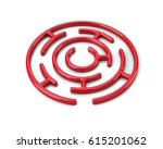 3d Illustration Of Red Round...