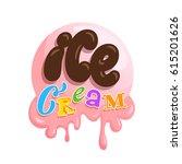 ice cream vector hand drawn...   Shutterstock .eps vector #615201626