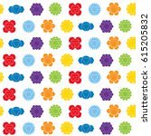 seamless pattern with signs and ... | Shutterstock .eps vector #615205832