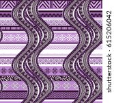 violet waves. abstract ethnic... | Shutterstock .eps vector #615206042