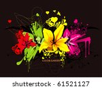 flower color abstract... | Shutterstock .eps vector #61521127