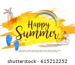 creative summer sale banner or... | Shutterstock .eps vector #615212252