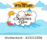 creative summer sale banner or... | Shutterstock .eps vector #615212306
