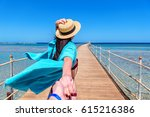 traveling together. follow me.... | Shutterstock . vector #615216386