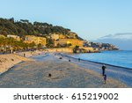 nice  france  on january 9 ... | Shutterstock . vector #615219002