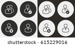 account vector icons set.... | Shutterstock .eps vector #615229016