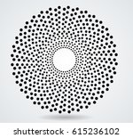 abstract circular halftone dots ... | Shutterstock .eps vector #615236102