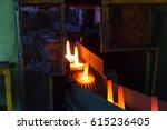 high precision hot forging... | Shutterstock . vector #615236405