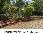 view of group of unoccupied... | Shutterstock . vector #615237062