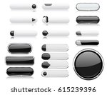 black and white menu buttons.... | Shutterstock . vector #615239396