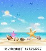Sea Shell And Starfish  On A...