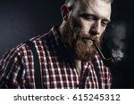 handsome man or lumberjack ... | Shutterstock . vector #615245312