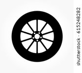 flat black wheel and tire with... | Shutterstock .eps vector #615248282