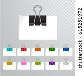 Set Of Multicolored Binder...