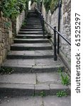 Steps Leading Up A Narrow...