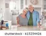 portrait of a content senior... | Shutterstock . vector #615254426