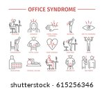 office syndrome infographic.... | Shutterstock . vector #615256346