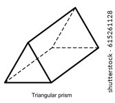 triangular prism vector ... | Shutterstock .eps vector #615261128