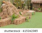Straw Decoretion Farm Take Photo