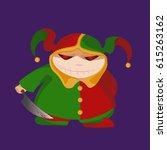 evil joker smiling vector... | Shutterstock .eps vector #615263162