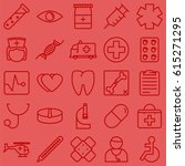 red medical health care icons... | Shutterstock .eps vector #615271295