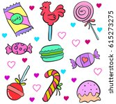 doodle of candy colorful style | Shutterstock .eps vector #615273275