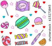 vector illustration of candy... | Shutterstock .eps vector #615273845