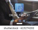 man working on network graphic... | Shutterstock . vector #615274202