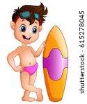 vector illustration of cartoon... | Shutterstock .eps vector #615278045