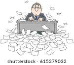 bureaucrat with documents | Shutterstock .eps vector #615279032