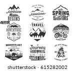 spring adventure and mountain... | Shutterstock .eps vector #615282002