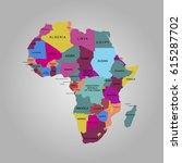 map of africa. vector... | Shutterstock .eps vector #615287702