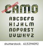 camo character set  detailed... | Shutterstock .eps vector #615294092