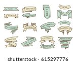 retro hand drawn cartoon vector ... | Shutterstock .eps vector #615297776
