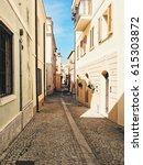 olbia city center  cozy italian ...   Shutterstock . vector #615303872