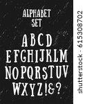 alphabet set. grunge background | Shutterstock .eps vector #615308702