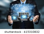 conceptual image of a internet... | Shutterstock . vector #615310832
