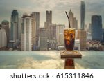 drinks   beverage on table in... | Shutterstock . vector #615311846