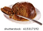 sticky toffee pudding cut out | Shutterstock . vector #615317192