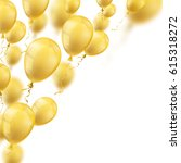 golden balloons on the white.... | Shutterstock .eps vector #615318272