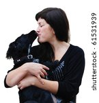 young woman with dog | Shutterstock . vector #61531939