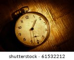 the old clock on the grunge...